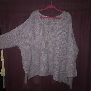 Free People Lilac Oversized Sweater